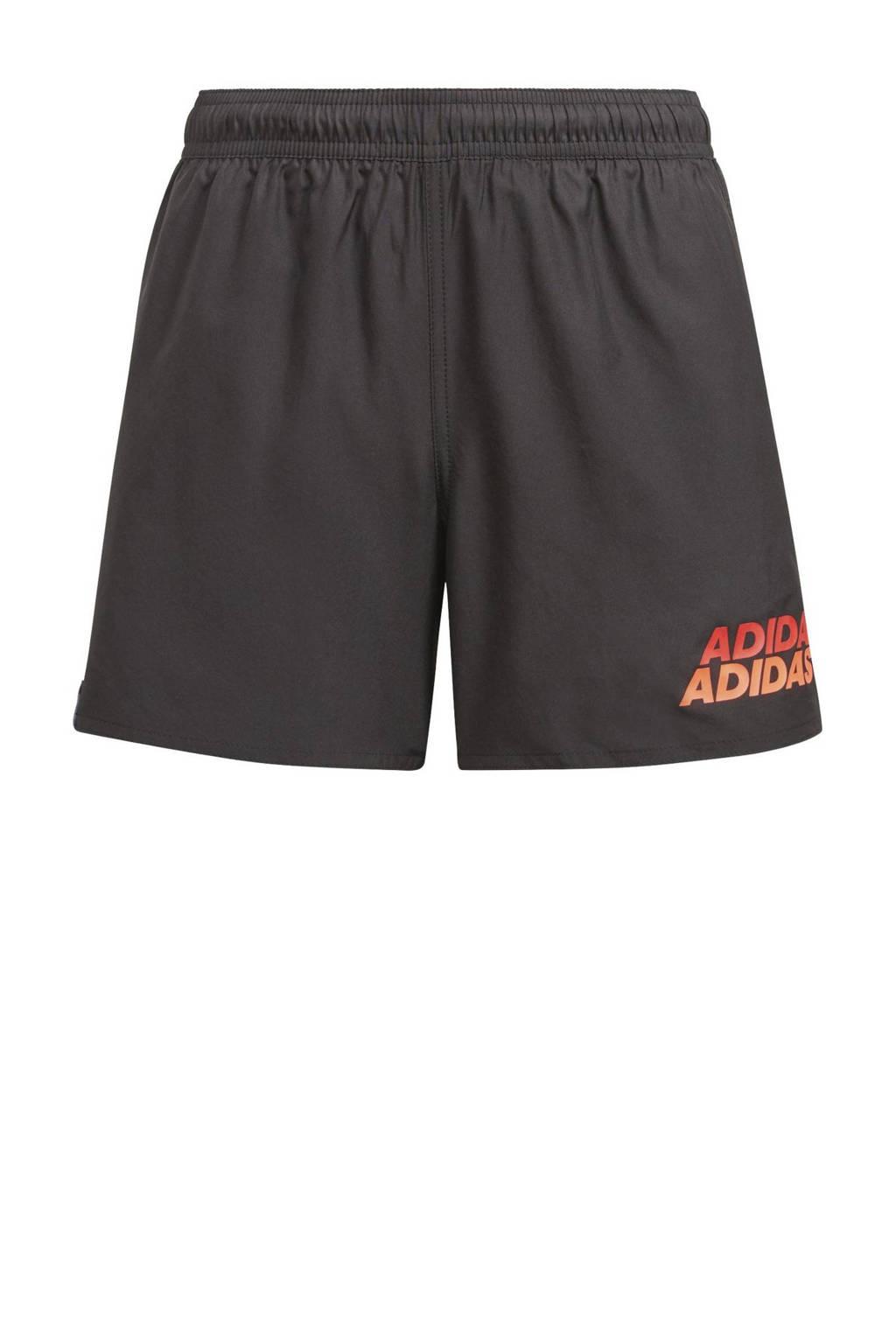 adidas Performance zwemshort zwart/rood, Zwart/rood