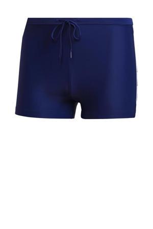 zwemboxer donkerblauw/wit
