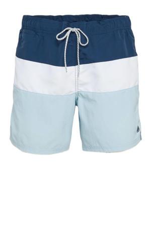 zwemshort lichtblauw/wit/donkerblauw