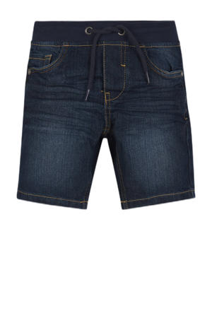 regular fit jeans bermuda donkerblauw