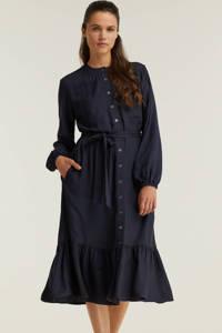 anytime jurk met knoop koord blauw, Blauw
