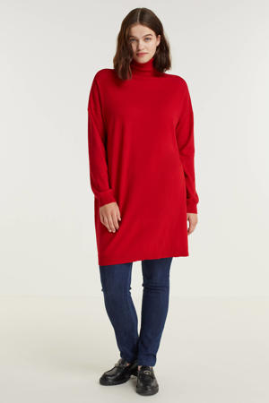 gebreide jurk Robi rood