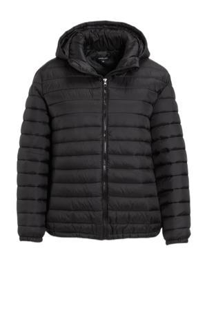 gewatteerde jas Pixi zwart