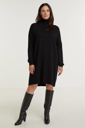 gebreide jurk Robi zwart
