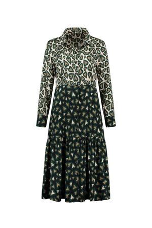 A-lijn jurk Heartbeat ivory met hartjes groen