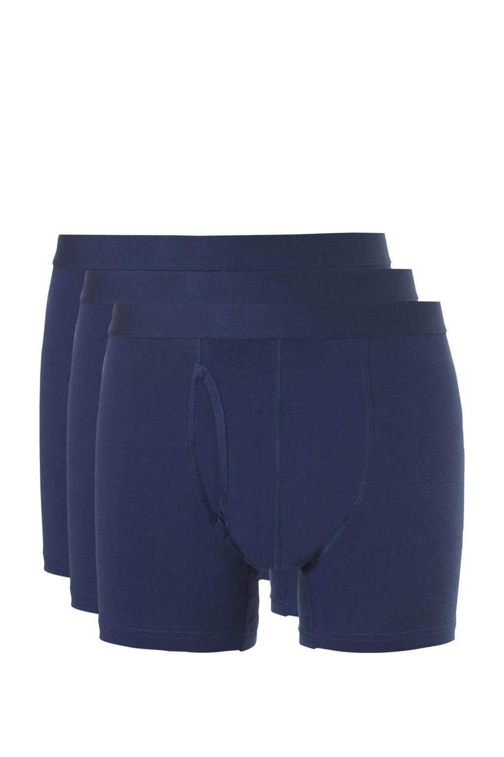 ten Cate Basic boxershort (set van 3), Donkerblauw