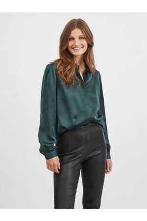 blouse VIELLETTE  van gerecycled polyester groen