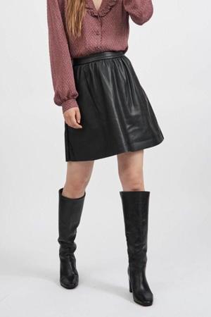 coated rok VIPEN met plooien zwart