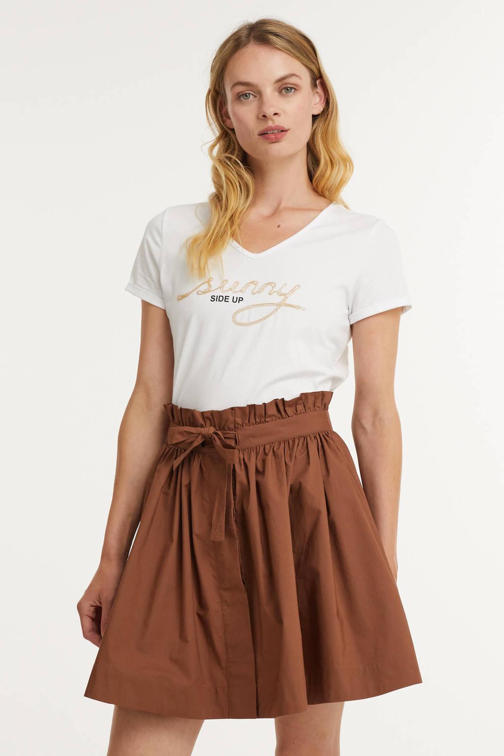 MORE & MORE T-shirt met biologisch katoen wit, Wit