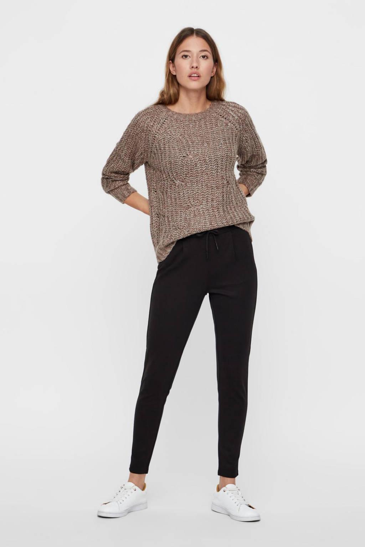 NOISY MAY slim fit pantalon NMPOWER zwart, Zwart