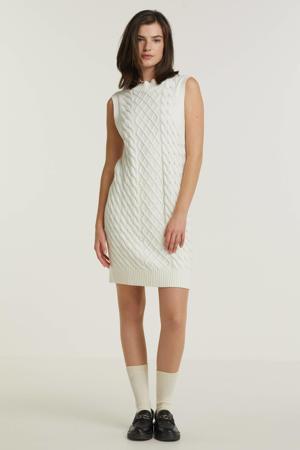 gebreide jurk VIZURI met biologisch katoen wit