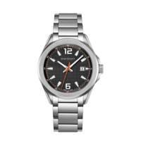 Davidoff horloge Essentials No. 3 zilverkleurig/zwart, Zilverkleurig/zwart