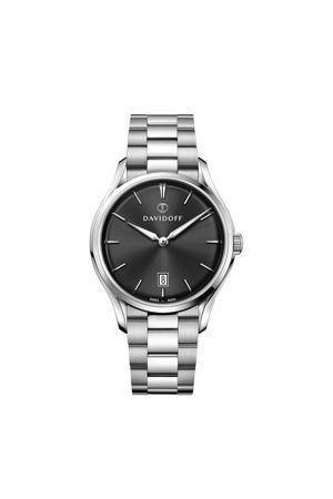 horloge Essentials No. 1 zilverkleurig/zwart