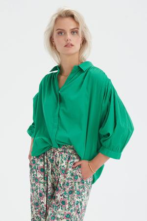 blouse met plooien Bowie Green Blouse groen