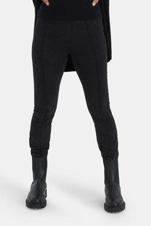 high waist skinny legging Lucy donkergrijs