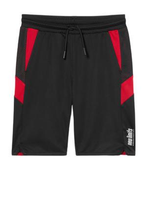 regular fit bermuda zwart/rood