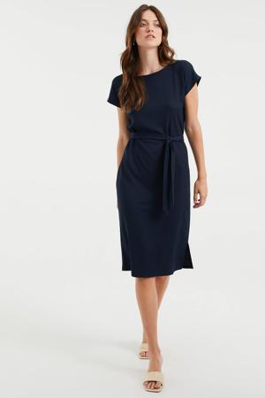 jurk met ceintuur donkerblauw