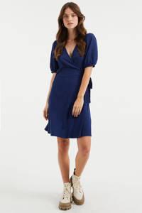WE Fashion wikkeljurk donkerblauw, Donkerblauw