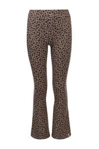LOOXS 10sixteen flared broek met panterprint bruin/zwart, Bruin/zwart