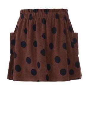 rok met stippen bruin/zwart