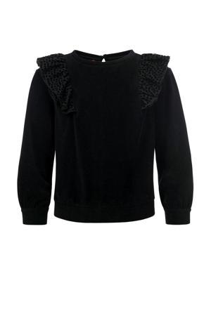 sweater met ruches zwart