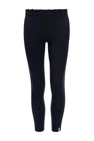 slim fit broek met zijstreep donkerblauw