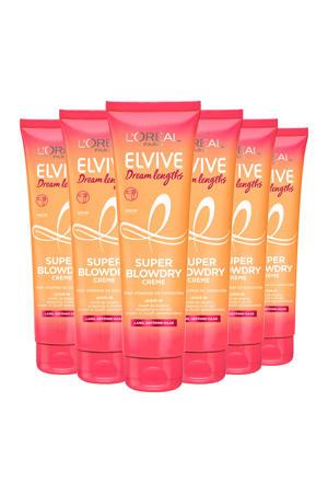Elvive Dream Lengths Blowdry Cream 150ml - 6 x 150ml multiverpakking