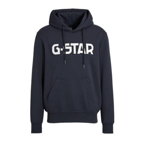 G-Star RAW sweater met logo donkerblauw
