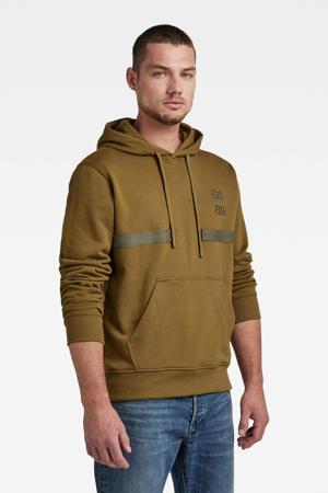 hoodie donkergroen/bruin