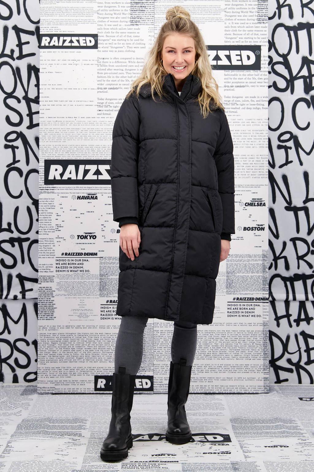 Raizzed gewatteerde jas TEVINA zwart, Zwart