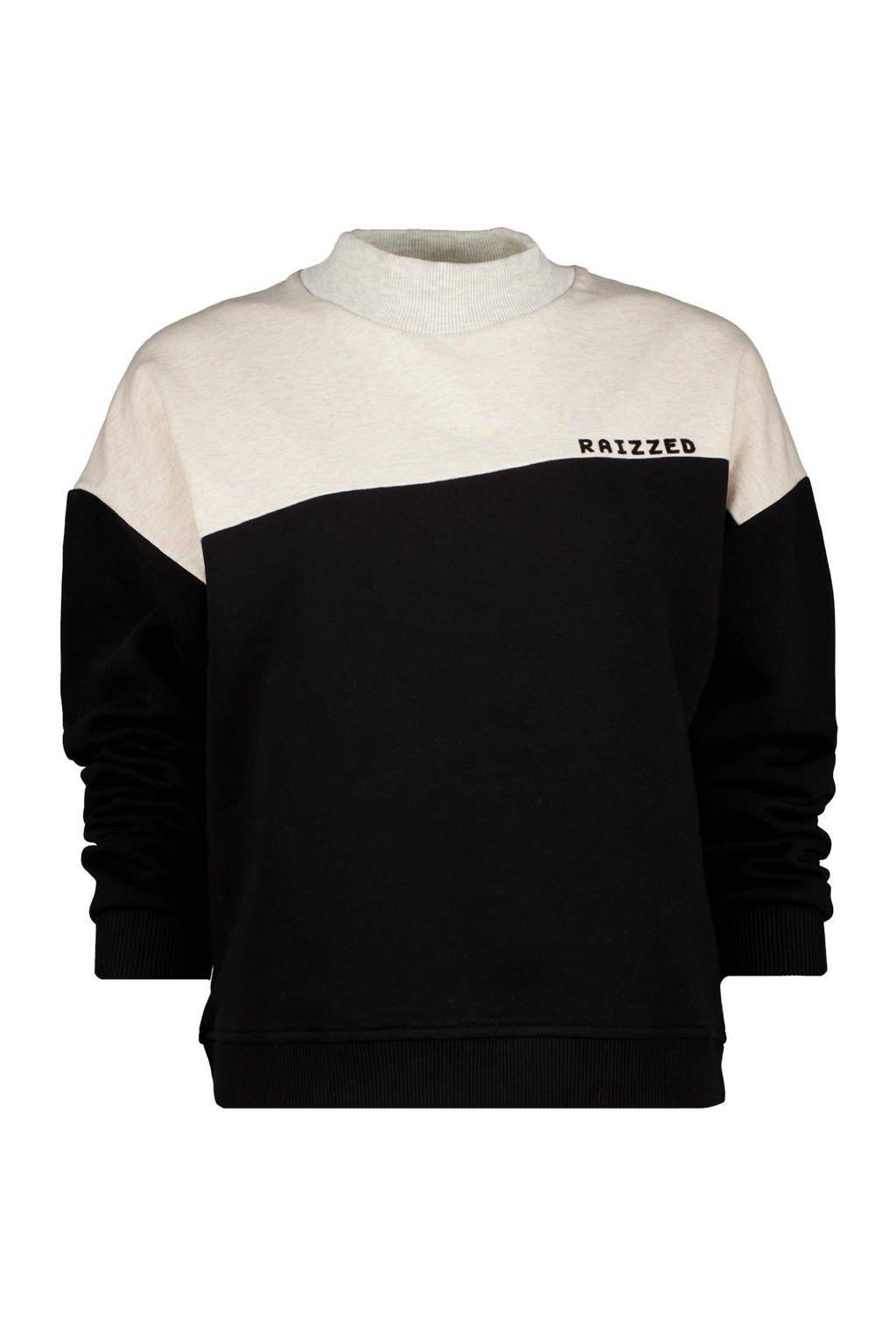 Raizzed sweater NADIA zwart/wit, Zwart/wit