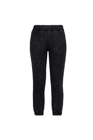 wide leg joggingbroek Sanny 924 washed black