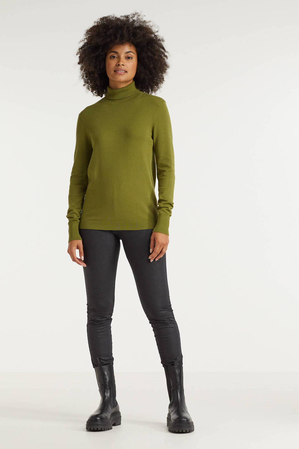 Imagine trui met col groen, Groen