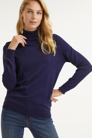 trui met col donkerblauw