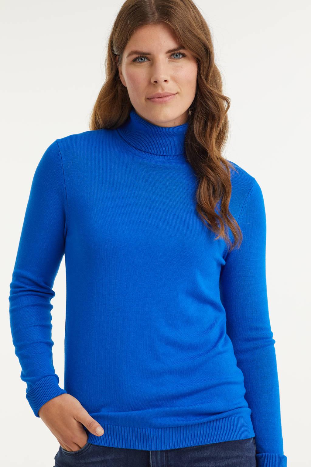 Imagine trui met col blauw, Olympia Blue