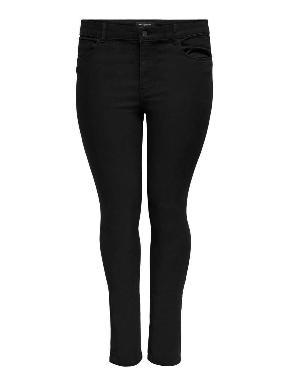 ONLY CARMAKOMA skinny jeans CARHIRIS zwart, Zwart