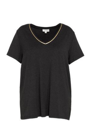 jurk CARCARMA met volant zwart