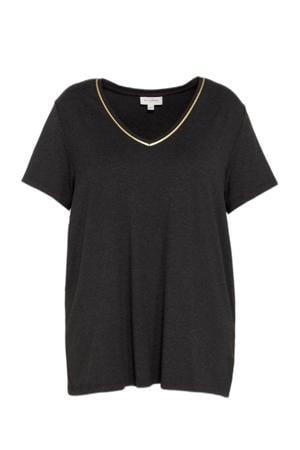shirt CARCARMA met volant zwart