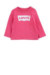 Levi's Kids longsleeve Logo met logo fuchsia, Fuchsia