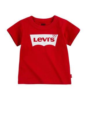 Levi's Kids T-shirt Batwing met logo rood
