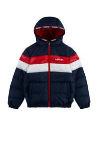 Levi's Kids  winterjas donkerblauw/rood/wit, Donkerblauw/rood/wit