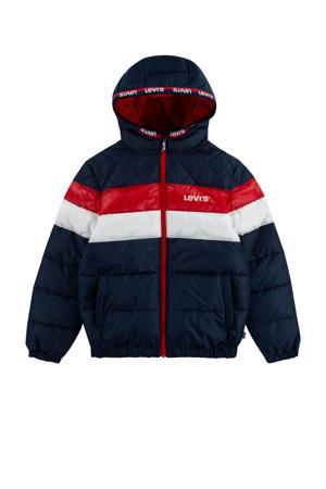 Levi's Kids  winterjas donkerblauw/rood/wit