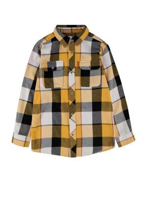 Levi's Kids geruit flanellen overhemd geel/zwart/wit