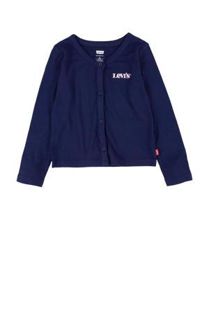 Levi's Kids vest Demi met logo donkerblauw