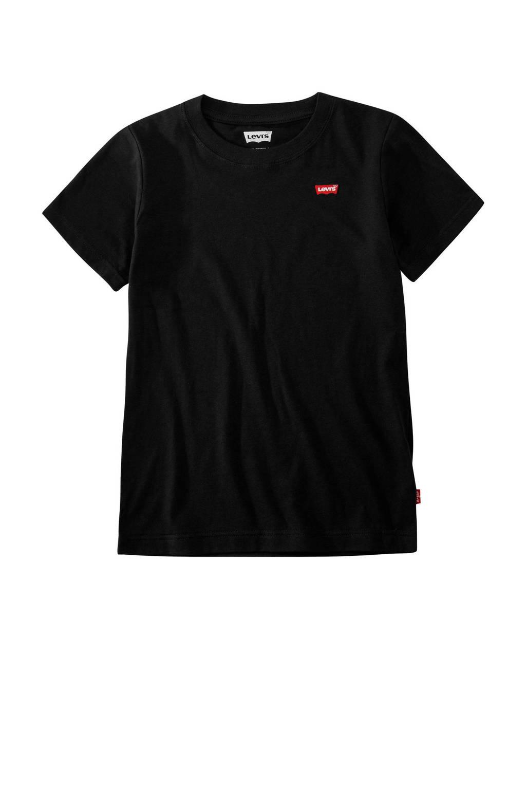 Levi's Kids basic T-shirt Batwing chest zwart, Zwart