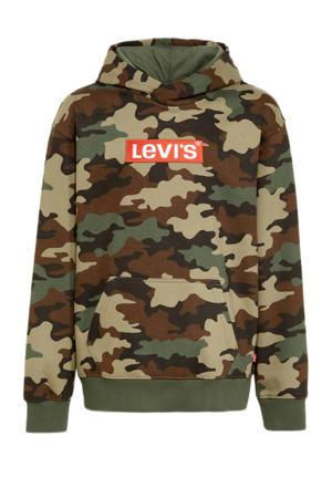 Levi's Kids hoodie met camouflageprint groen/bruin