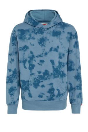 Levi's Kids tie-dye hoodie blauw