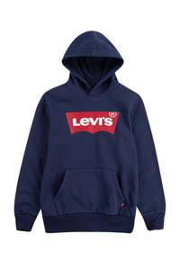 Levi's Kids hoodie Batwing Screenprint met logo donkerblauw, Donkerblauw
