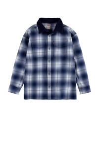 Levi's Kids geruit overhemd blauw/wit, Blauw/wit
