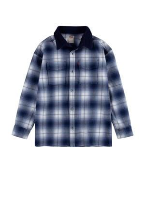 Levi's Kids geruit overhemd blauw/wit